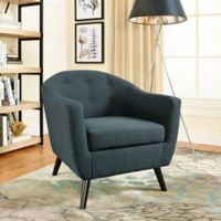 Modway Wit Fabric Armchair in Grey