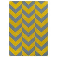 Kaleen Spaces Zurich 5-Foot x 7-Foot Area Rug in Yellow
