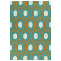 Kaleen Spaces Soho 2-Foot x 3-Foot Rug in Teal