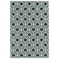 Kaleen Spaces Helsinki 2-Foot x 3-Foot Accent Rug in Blue
