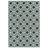 Kaleen Spaces Helsinki 5-Foot x 7-Foot Area Rug in Blue