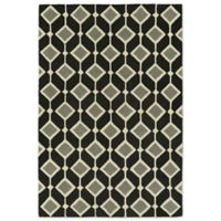 Kaleen Spaces Helsinki 5-Foot x 7-Foot Area Rug in Black