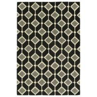 Kaleen Spaces Helsinki 8-Foot x 10-Foot Area Rug in Black