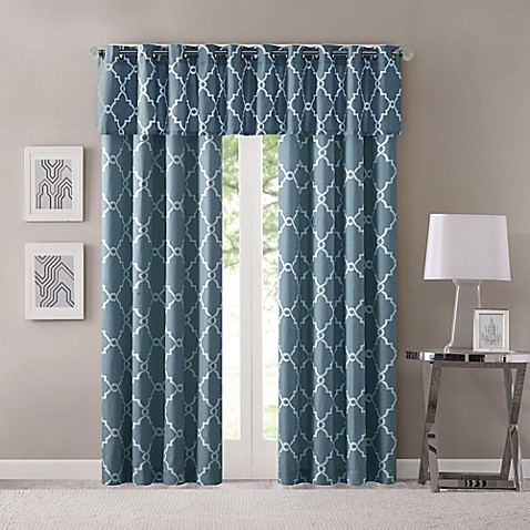 Madison Park Saratoga Grommet Top Window Curtain Panel And