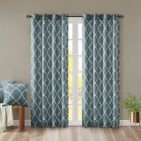 Madison Park Saratoga 95-Inch Grommet Top Window Curtain Panel in Blue
