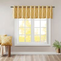 Madison Park Saratoga Window Valance In Yellow