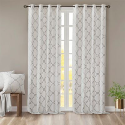 Madison Park Saratoga 63 Inch Grommet Top Window Curtain Panel In Ivory