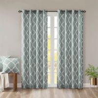 Madison Park Saratoga 84-Inch Grommet Top Window Curtain Panel in Seafoam