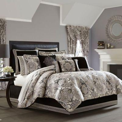 j queen new york guiliana queen comforter set in silver