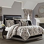 J. Queen New York Guiliana King Comforter Set in Silver