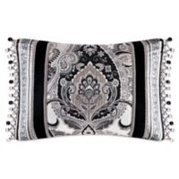 J. Queen New York Guiliana 15-Inch x 21-Inch Oblong Throw Pillow in Silver
