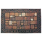 J&M Home Fashions 18-Inch x 30-Inch Welcome Stones Door Mat
