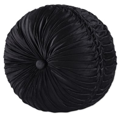Great J. Queen New York™ Bridgeport Tufted Round Throw Pillow In Black