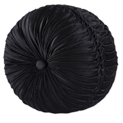 Great J. Queen New York™ Bridgeport Tufted Round Throw Pillow In Black