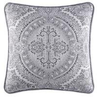 J. Queen New York™ Colette Square Throw Pillow in Silver