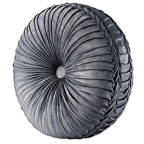 Tufted Round Decorative Pillow : Buy J. Queen New York Colette Tufted Round Throw Pillow in Silver from Bed Bath & Beyond