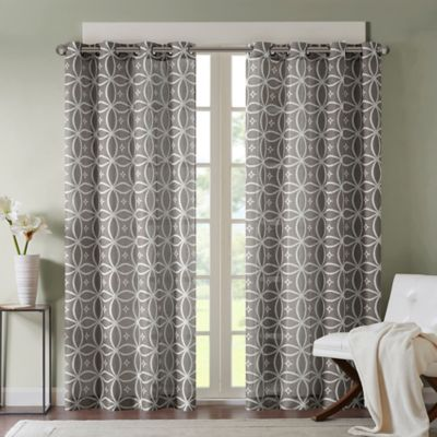 Madison Park Zafar 63 Inch Window Curtain Panel in Grey. Buy 63 Inch Curtain Grommet from Bed Bath   Beyond