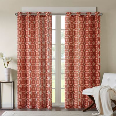 madison park zafar 63 inch window curtain panel in rust - Rust Color Curtains