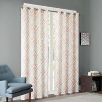 INK+IVY Bas 84-Inch Printed Etched Diamond Window Curtain Panel in Spice