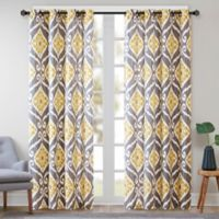 Madison Park Nadie 63-Inch Window Curtain Panel in Yellow