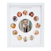 Pearhead® 13-Photo First Year Collage Picture Frame in White