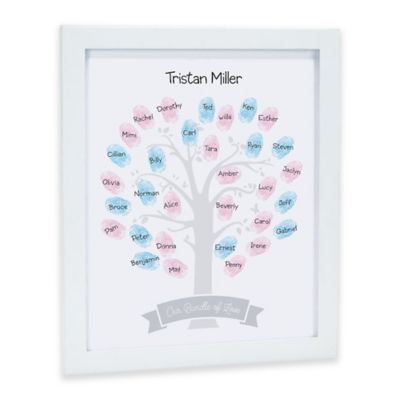 pearhead baby shower family tree guestbook frame