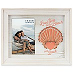 """Love You to the Beach and Back"" 4-Inch x 6-Inch Picture Frame in White"