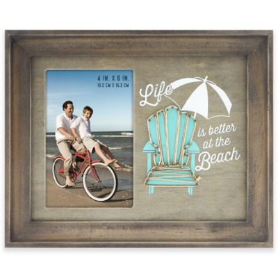 life is better at the beach 4 inch x 6 inch picture