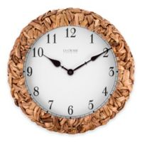 LaCrosse Technology Palm Leaf Wrapped Wall Clock