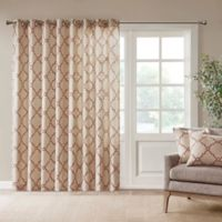 Madison Park Saratoga 84-Inch Grommet Top Patio Door Window Curtain Panel in Beige/Spice