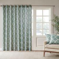 Madison Park Saratoga 84-Inch Grommet Top Patio Door Window Curtain Panel in Seafoam