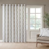 Madison Park Saratoga 84-Inch Grommet Top Patio Door Window Curtain Panel in Ivory/Silver