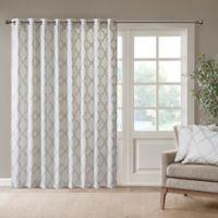 Madison Park Saratoga 84-Inch Grommet Top Patio Door Window Curtain Panel in Ivory/Silver