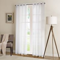 Madison Park 63-Inch Wynn Sheer Window Curtain Panel in White