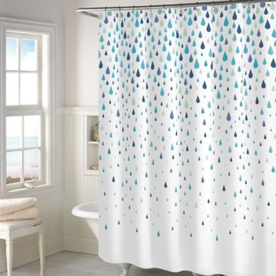Buy Twilight Polyester Long Shower Curtain In Grey From Bed Bath Beyond