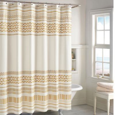 gold and brown shower curtain. CHF Industries Kalamata Shower Curtain in Gold Buy Curtains from Bed Bath  Beyond
