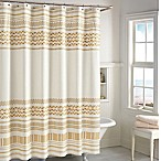 CHF Industries Kalamata Shower Curtain in Gold