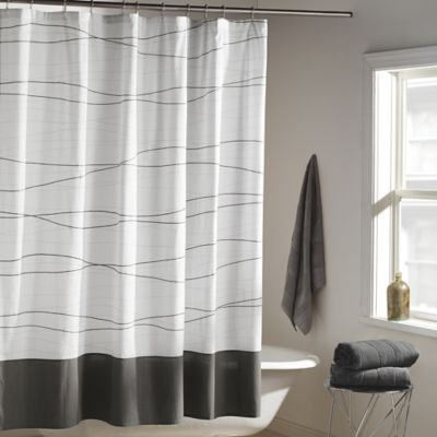 DKNY Wavelength Shower Curtain in Grey - Buy Charcoal Shower Curtains From Bed Bath & Beyond