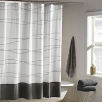 DKNY Wavelength Shower Curtain In Grey