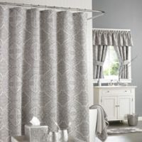 J. Queen New York™ Colette Shower Curtain in Silver