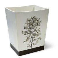 Dean Wastebasket in White