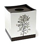 Dean Boutique Tissue Box Cover in White