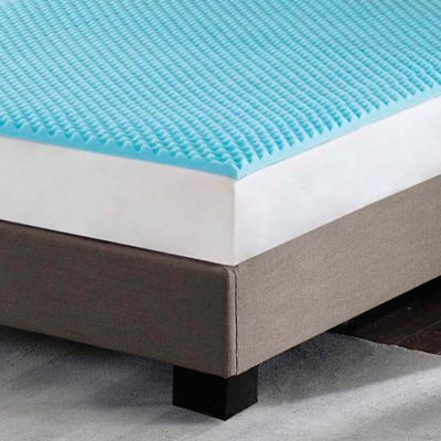 Sleep Philosophy Flexapedic 3 Inch Twin Gel Foam Topper In Blue