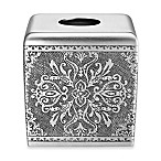 J. Queen New York™ Colette Boutique Tissue Box Cover in Silver