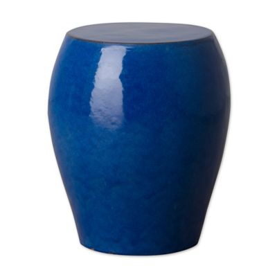Ordinaire Emissary Seiji Ceramic Garden Stool In Blue