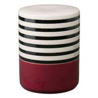 Emissary Stripe Ceramic Garden Seat in Burgundy