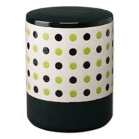 Emissary Polka Dot Ceramic Garden Seat in Willow Green