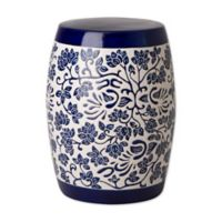 Emissary Amarante Ceramic Garden Stool in Blue/White