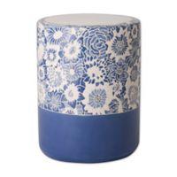 Emissary Fleur Ceramic Garden Stool in Sapphire Blue
