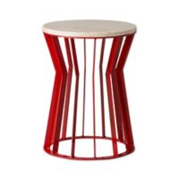 Emissary Millie Metal Stool in Red